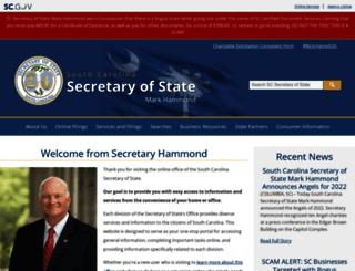 sos.sc.gov screenshot