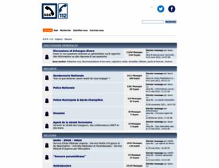 sos112.fr screenshot