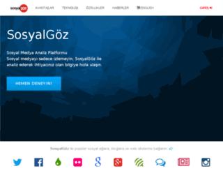 sosyalgoz.com screenshot