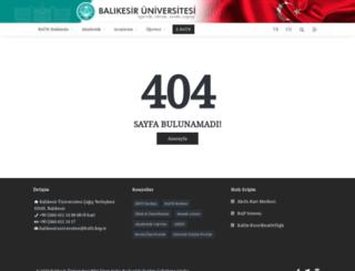 sosyoloji.balikesir.edu.tr screenshot
