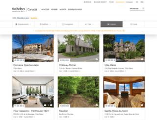 sothebysimmobilierquebec.com screenshot