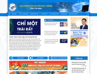 sotttt.tayninh.gov.vn screenshot