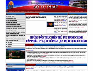 sotuphap.hanoi.gov.vn screenshot