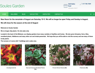 soulesgarden.com screenshot