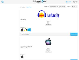sound-editing-software.findthebest-sw.com screenshot