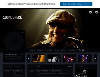 soundcheckdemo.wordpress.com screenshot