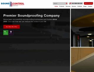 soundcontrolservices.co.uk screenshot