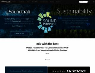 soundcraft.com screenshot