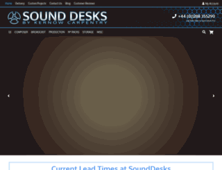 sounddesks.co.uk screenshot