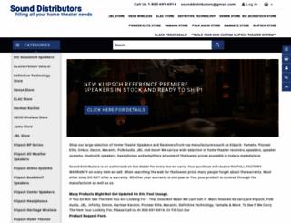 sounddistributors.com screenshot