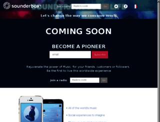 sounderbox.com screenshot