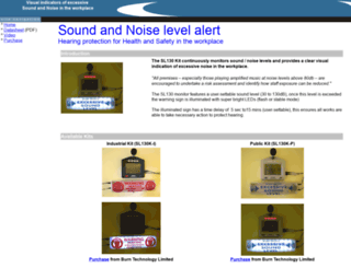 soundlevelalert.co.uk screenshot