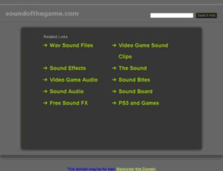 soundofthegame.com screenshot
