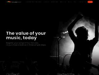 soundreef.com screenshot
