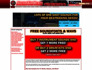 soundsforbeats.com screenshot