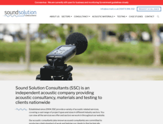 soundsolutionconsultants.co.uk screenshot