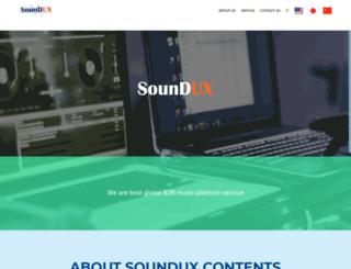 soundux.co.kr screenshot
