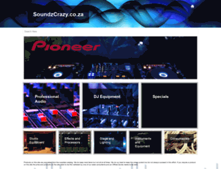 soundzcrazy.co.za screenshot