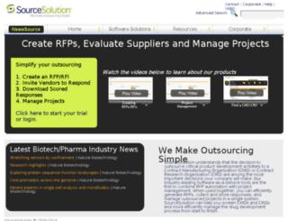 sourcesolution.com screenshot