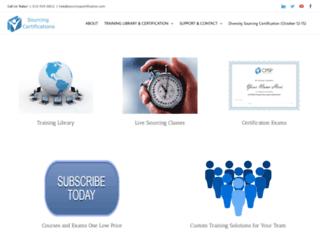 sourcingcertification.com screenshot