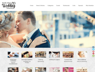 south-africa-weddings.co.za screenshot