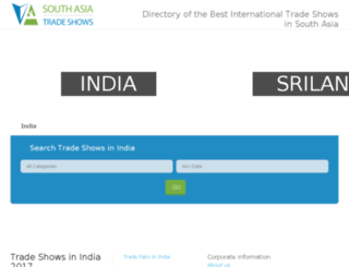 south-asia-trade-shows.com screenshot