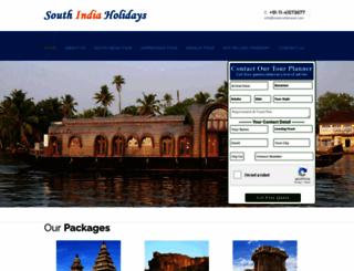 south-india-holidays.com screenshot
