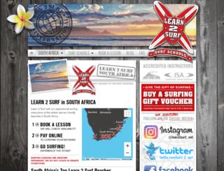 southafrica.learn2surf.net screenshot