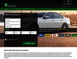 southafricacarrentals.net screenshot