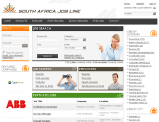 southafricajobline.co.za screenshot