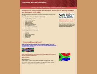 southafricanfoodshop.com screenshot