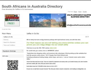 southafricansinaustralia.com.au screenshot