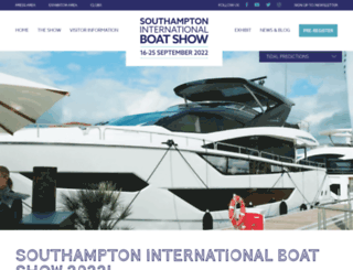 southamptonboatshow.com screenshot