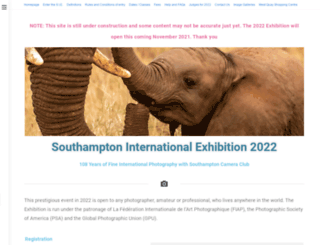 southamptoninternationalexhibition.co.uk screenshot
