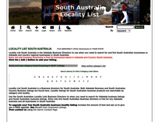 southaustralia.localitylist.com.au screenshot