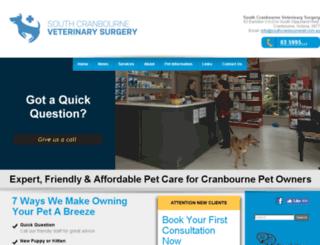 southcranbournevet.petpack.com.au screenshot