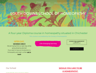 southdownshomeopathy.uk screenshot