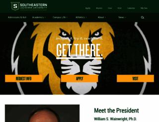 southeastern.edu screenshot