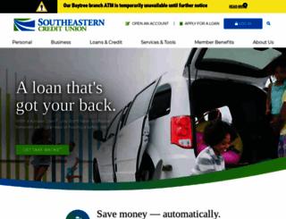 southeasternfcu.org screenshot