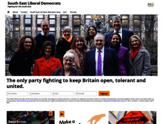 southeastlibdems.org.uk screenshot