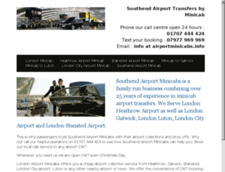 southend.minicab.london screenshot