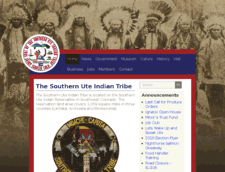 southern-ute.nsn.us screenshot
