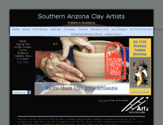 southernarizonaclayartists.org screenshot