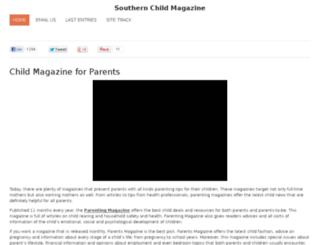 southernchildmagazine.com screenshot