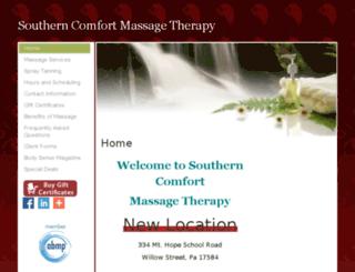 southerncomfortmassagetherapy.massagetherapy.com screenshot