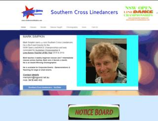 southerncrosslinedance.com screenshot