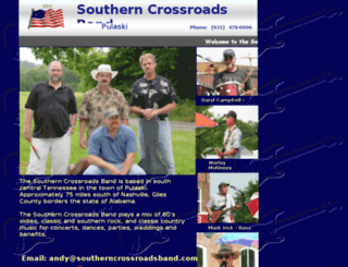 southerncrossroadsband.com screenshot