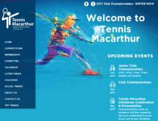southerndistrictstennis.com.au screenshot