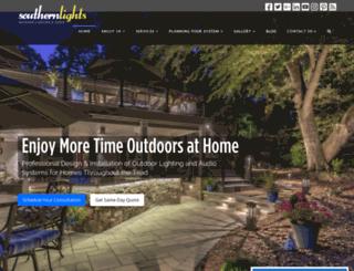 southernlightsofnc.com screenshot
