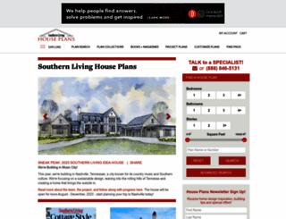 southernlivinghouseplans.com screenshot